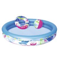 Dětský bazén mořský život set 1,47 x 0,25 m