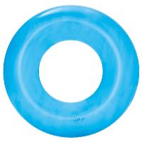 Nafukovací kruh Transparent 51 cm modrá
