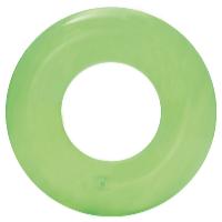 Nafukovací kruh Transparent 51 cm zelená