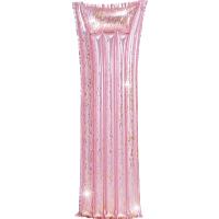 Nafukovací lehátko Pink Glitter 183 x 69 cm