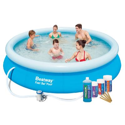 Bazén FAST SET 3,66 x 0,76 m s kartušovou filtrací a bazénovou chemií