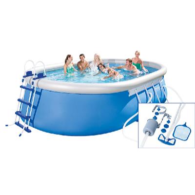 Bazén oválný 5,49 x 3,66 x 1,22 m set s příslušenstvím a bazénovým vysavačem