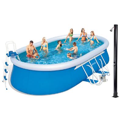 Bazén oválný 5,49 x 3,66 x 1,22 m set s příslušenstvím a solární sprchou Tropic