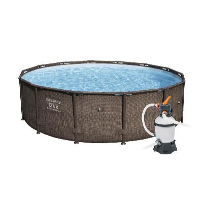 Bazén Steel Pro Frame Rattan 3,66 x 1 m s pískovou filtrací Standard
