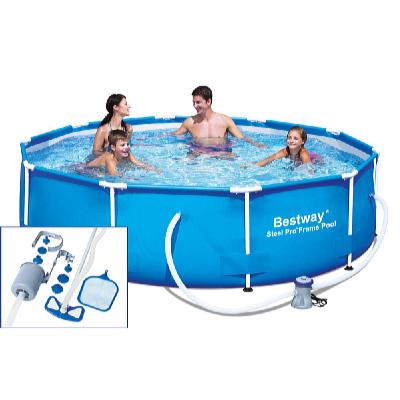 Bazén s konstrukcí 3,05 x 0,76 m s kartušovou filtrací a bazénovým vysavačem Deluxe