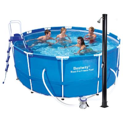 Bazén s konstrukcí 3,66 x 1,22 m set s příslušenstvím a solární sprchou Tropic
