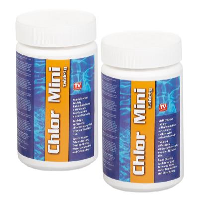 Bazénové chlor mini tablety 2 x 1 kg