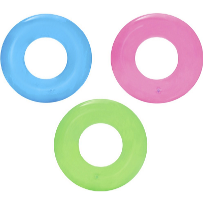 Nafukovací kruh Transparent 51 cm