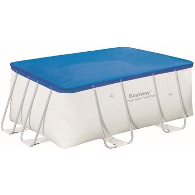 Krycí plachta na bazén s konstrukcí 2,87 x 2,01 x 1 m