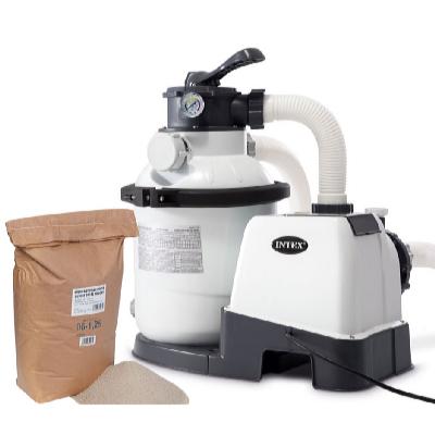Písková filtrace KRYSTAL CLEAR 4000 l/hod s filtračním pískem 25 kg