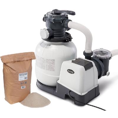 Písková filtrace KRYSTAL CLEAR 6000 l/hod s filtračním pískem 25 kg