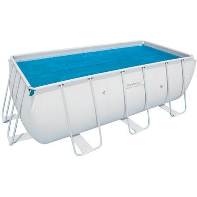 Solární plachta 3,8 x 1,8 m pro bazén s konstrukcí 4,04 x 2,01 x 1 m